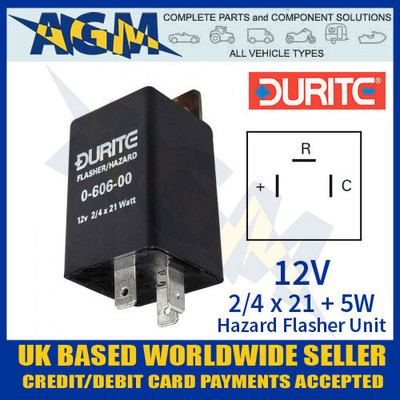 durite, 060600, 0-606-00, 12v, hazard, flasher, unit