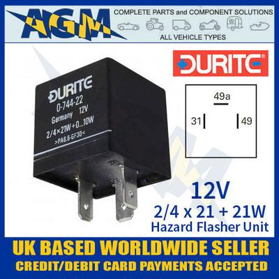 durite, 074422, 0-744-22, 12v, hazard, flasher, unit