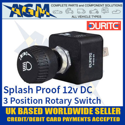 durite, 065604, 0-656-04, splash, proof, rotary, switch