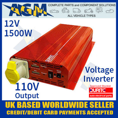 0-856-16, 085616, 12v, 1500w, durite, modified, wave, voltage, inverter, 110v, output