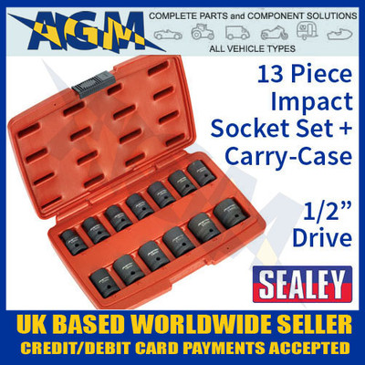 sealey, ak5613td, impact, socket, set