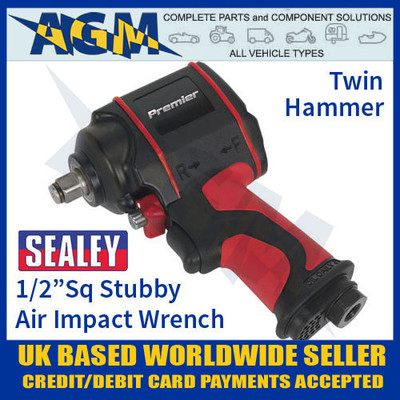 "SA6002S Air Impact Wrench 1/2""Sq Drive Stubby Twin Hammer"