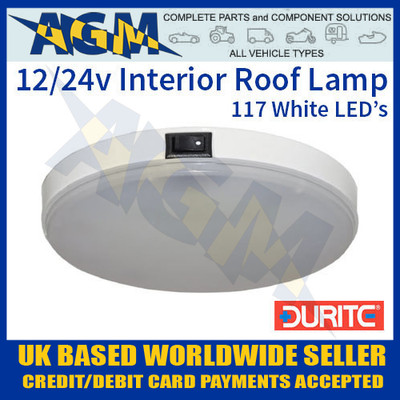 0-668-13, 066813, durite, 12v, 24v, white, led, vehicle, roof, lamp
