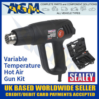 sealey, hs107k, hot, air, gun, kit