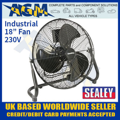 sealey, hvf18, industrial, high, velocity, floor, fan, 230v