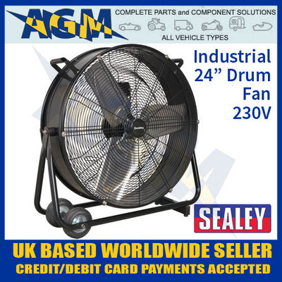 sealey, hvd24, industrial, high, velocity, drum, fan, 230v