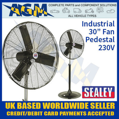 sealey, hvsf30, industrial, high, velocity, pedestal, fan, 230v