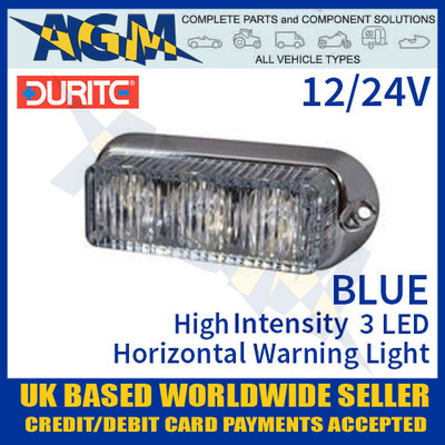 durite, 0-442-02, 044202, blue, high, intensity, led, horizontal, warning, light, 12v, 24v