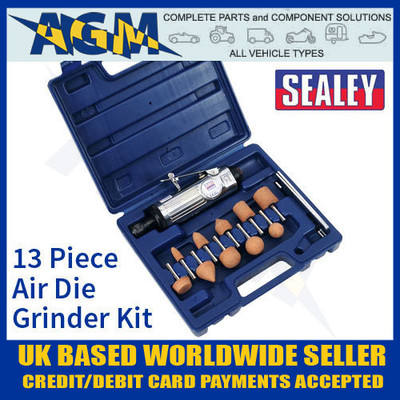 SA67 Sealey 13 Piece Air Die Grinder Kit - Air Tools