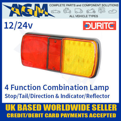0-300-25, 030025, durite, led, rear, combination, lamp