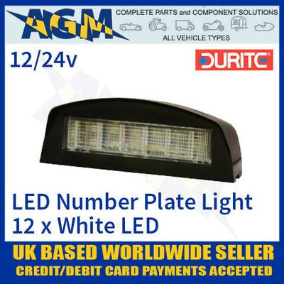 durite, 0-453-70, 045370, black, number, plate, light, lamp, led, 12v, 24v