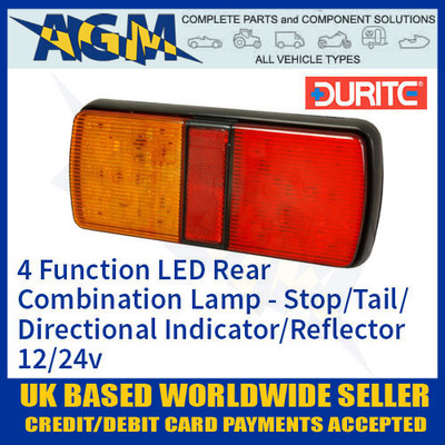 durite, 0-300-75, 030075, function, rear, combination, lamp, 12v, 24v