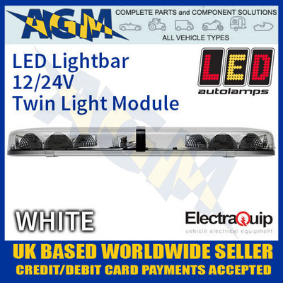 eqlb302ac, led, lightbar, clear, white, twin, light, module