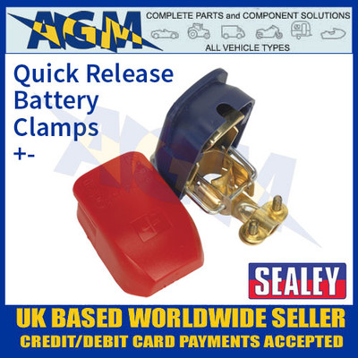 Sealey BTQK12 Quick Release Battery Clamps