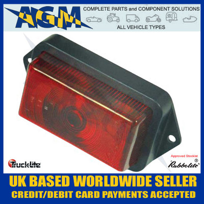 Rubbolite, 550/02/00, Red, Front Marker Light,