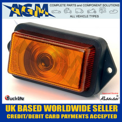 Rubbolite, 550/03/00, Amber, Front Marker Light,
