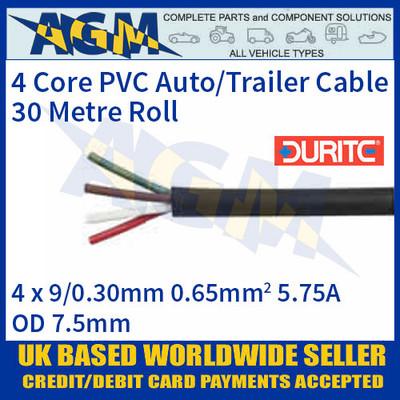 Durite 0-993-00 4 Core PVC Auto/Trailer Cable