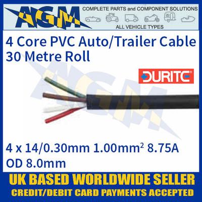 Durite 0-993-01 4 Core PVC Auto/Trailer Cable