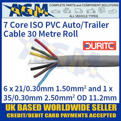 Durite 0-997-15 7 Core PVC Auto/Trailer Cable 30 Metre Reel