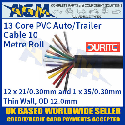 Durite 0-999-13 13 Core PVC Auto/Trailer Cable
