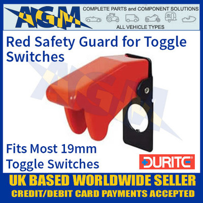 Durite 0-603-03 Red Plastic Toggle Switch Safety Guard