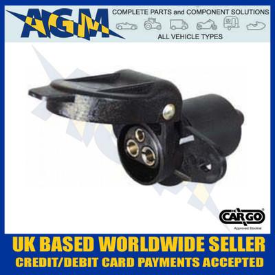 Cargo, 180307, Non Reversable, 3 Pin, Trailer, Socket