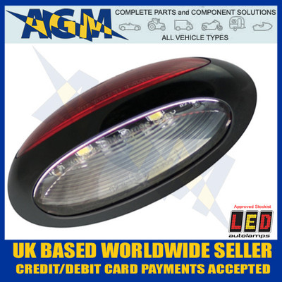 Led Autolamps 37RWM LED Front/Rear Red/White Marker Lamp 12/24v
