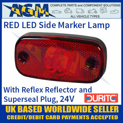 Durite 0-168-55 RED LED Side Marker Lamp