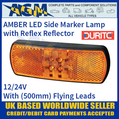 Durite 0-171-60 AMBER LED Side Marker Lamp with Leads