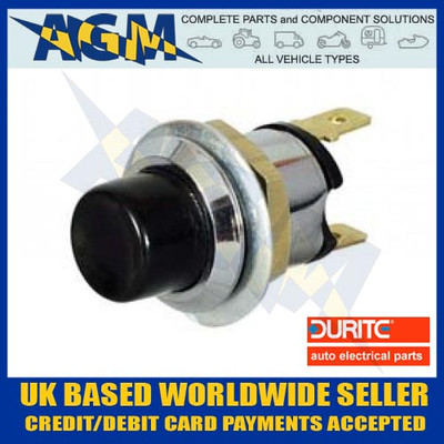 Durite 0-485-01, Push Button Single Pole Switch, 10A