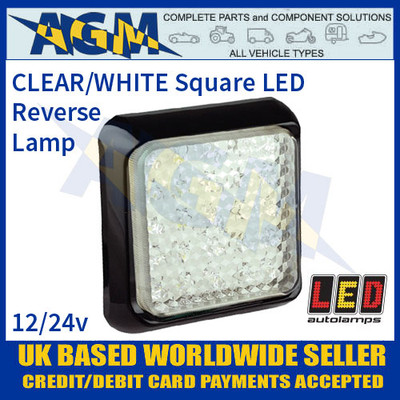 LED Autolamps 125WME Square Reversing Lamp/Light, 12-24v