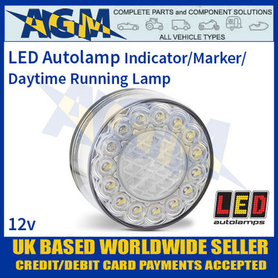 LED Autolamps 80AW12 Indicator/Marker/Daytime Running Lamp, 12v