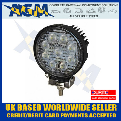 durite, 0-420-67, 042067, 12v, 24v, led, round, compact, powerful, work, worklamp, search, lamp