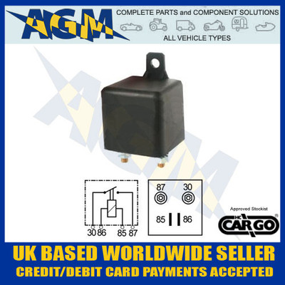 cargo, 160477, 100a, 12v, heavy, duty, make, break, relay
