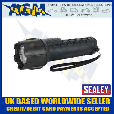 sealey, led051, cree, led, waterproof, torch