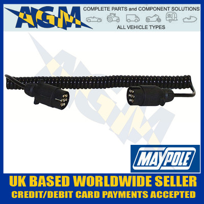 maypole, mp588, curly, extension, lead, 1.5m, 12n