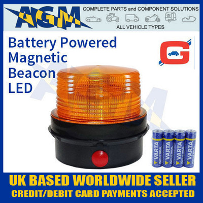 guardian, amb82, portable, led, strobe, beacon, battery, powered, magnetic