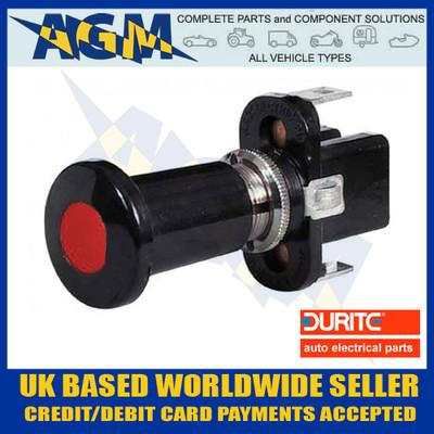 durite, 059705, 0-597-05, red, illuminated, push, pull, 12v, switch