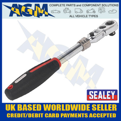 sealey, ak8983, flexi-head, extension, ratchet, wrench