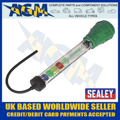 sealey, ak4122, propylene, glycol, antifreeze, disc, tester