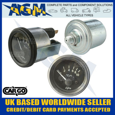 cargo, 160700, oil, pressure, gauge, sender, 12v, 52mm