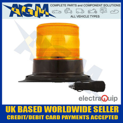 electraquip, eqpr10abm-mm, magnetic, mount, r10, led, amber, beacon