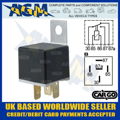 cargo, 160081, 12v, terminal, change, over, relay, bracket, 20a, 30a
