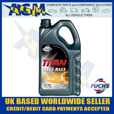 fuchs, titan, 601128943, cargo, maxx, 10w40, performance, oil, 5, ltr