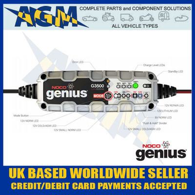 noco, genius, g3500uk, 3.5, amp, smart, battery, charger
