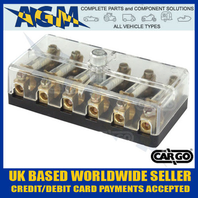 cargo, 190772, fuse, box, ceramic, fuses,  6way