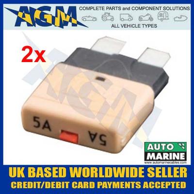 automarine, scb05, circuit, breaker, 5 amp, tan, blade, fuse