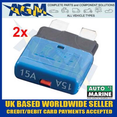 automarine, scb15, circuit, breaker, 15 amp, blue, blade, fuse