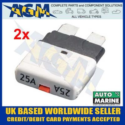 automarine, scb25, circuit, breaker, 25 amp, white, blade, fuse