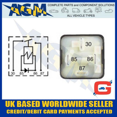 Guardian GR23, 30A Mini Make and Break Relay with Diode 12v